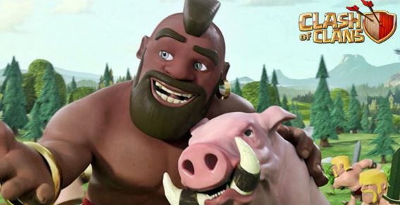 hog riders in clash of clans account