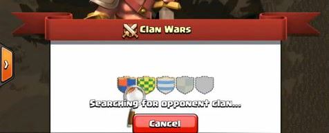 clash of clans account clan war times