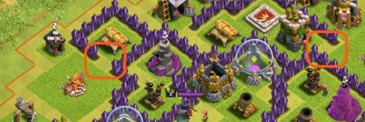 clash of clans account traps